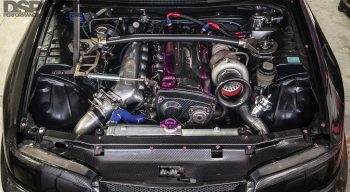 Carbon R33 Engine Bay