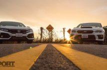 WRX vs Civic Si Lead