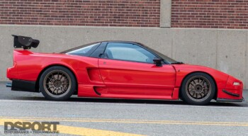 Supercharged Acura NSX Side Profile