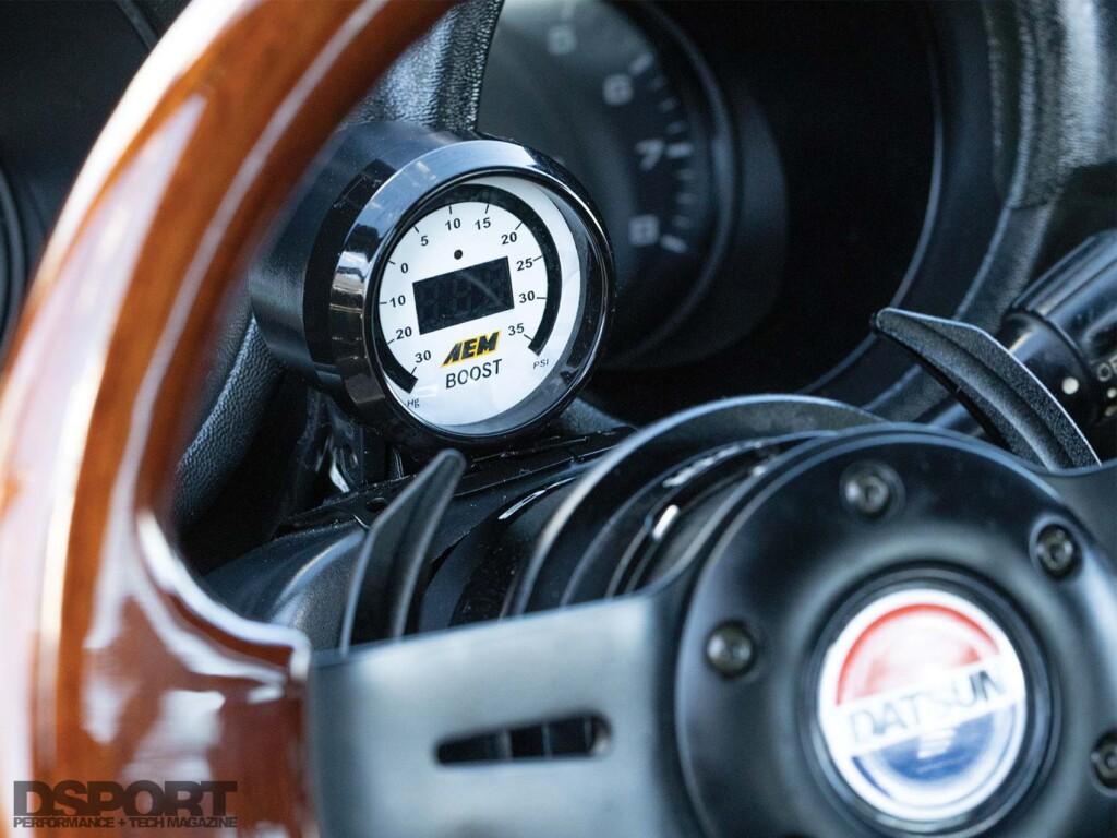 Datsun 280z AEM Boost Gauge