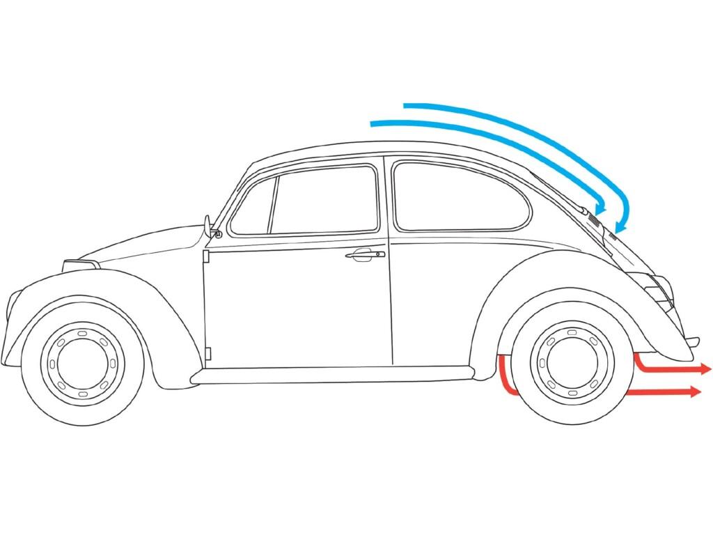 VW Bug Outline