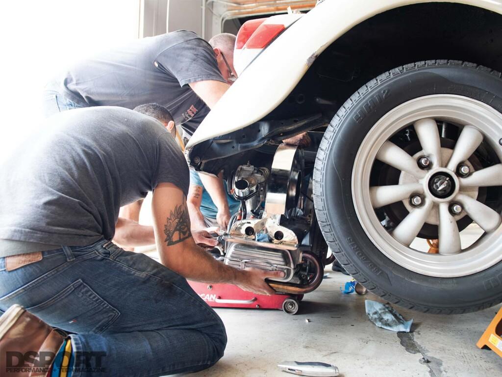 VW Bug Engine Removal