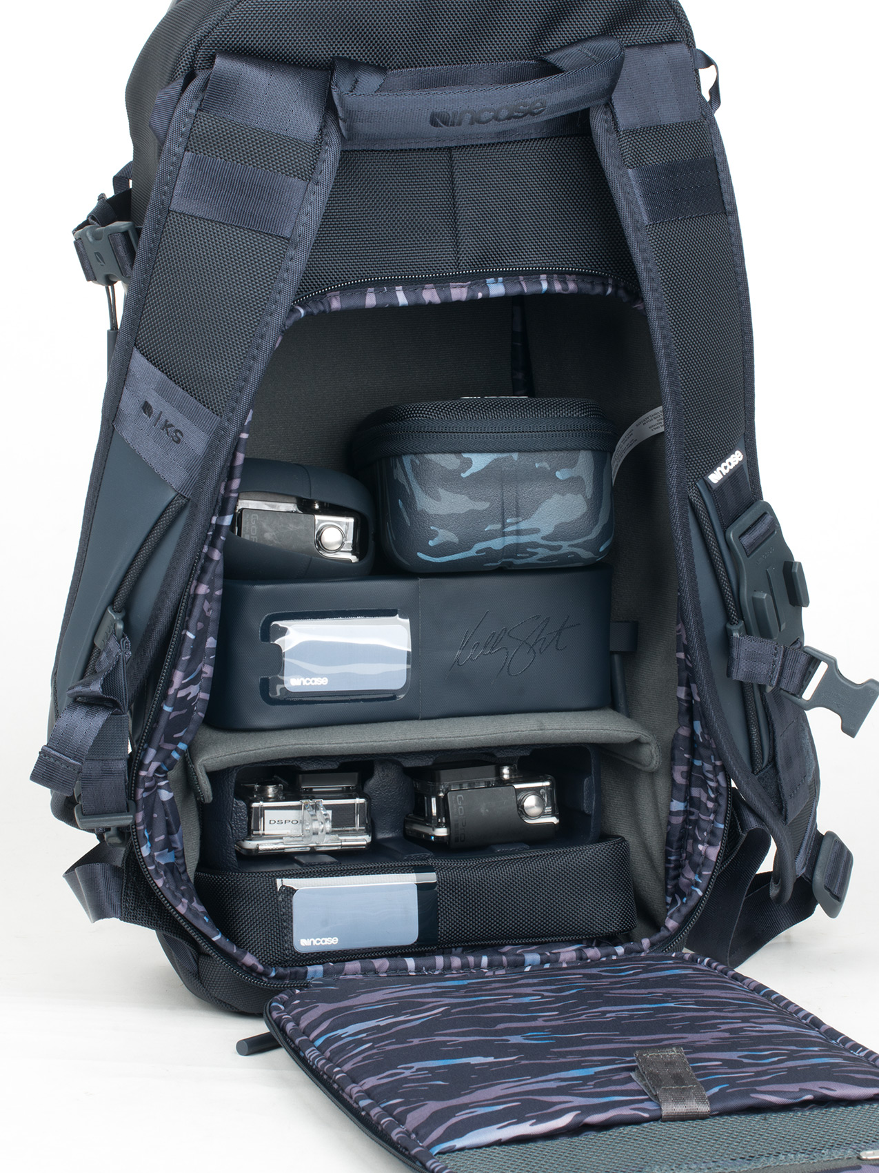 Inside compartments for the Incase Kelly Slater Collection