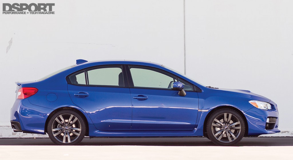 Side of the 2016 Subaru WRX