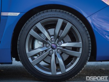 Wheel and tire of the 2016 Subaru WRX