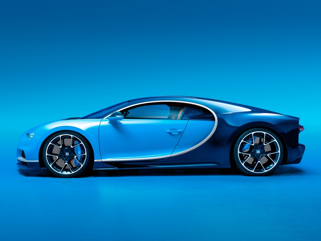Side of the Bugatti Chiron