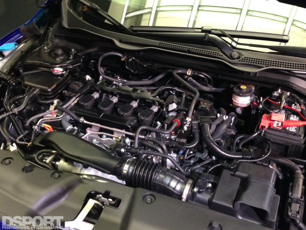 2016 Honda Civic Coupe engine with turbo