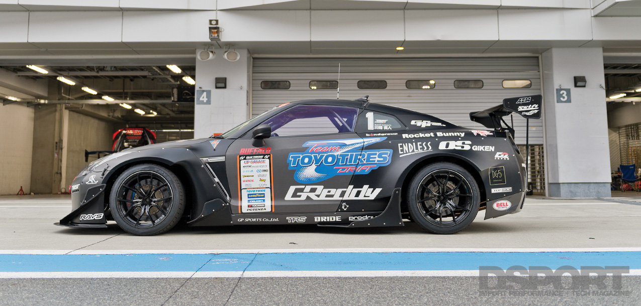 DSPORT Magazine Feature editorial on the GReddy 35RX Drift Nissan GT-R